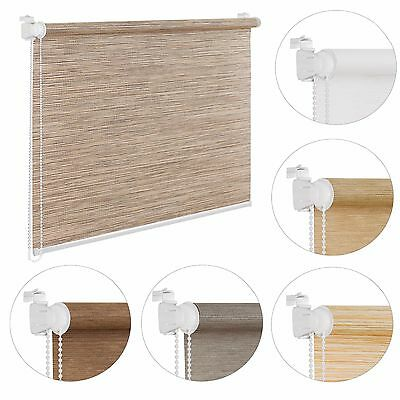 Made to Measure Oriental Bamboo-Like Natural New Window Roller Blinds 6 Designs