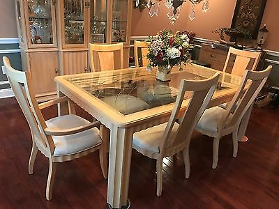 USED THOMASVILLE DINING room set - great condition, blonde ...