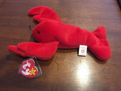 214b64e8ad6 TY BEANIE BABY - Retired PINCHERS Lobster MWMT 1993 PVC Pellets ...