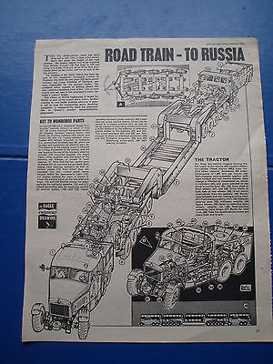Eagle Cutaway Drawing  10/9/1966  Scammell  Crane Freuhauf  Road Train