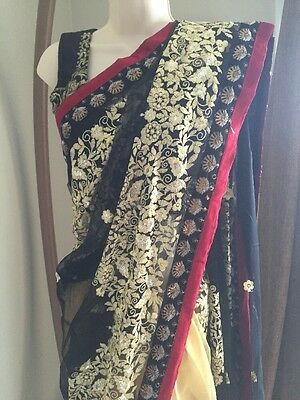Indian Pakistani Saree Sari Embroidery Bridal Ethnic Bollywood STITCHED blouse