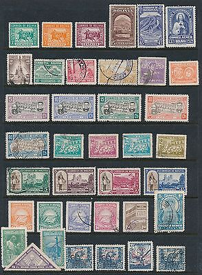 Bolivia **37 DIFFERENT (1943-1948)** MH & USED; ISSUES AS SHOWN