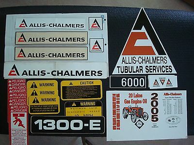Allis Chalmers Stickers/Misc. Lot