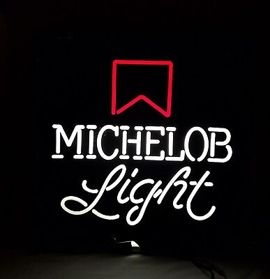 Michelob Light Plastic Working Lighted Beer Sign Pull Chain Plug In