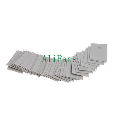 100PCS TO-220 Insulation Pads Silicone Heatsink Shim for Laptop GPU CPU AU