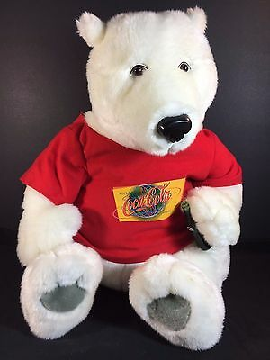 Coca Cola Polar Bear White Plush - World Las Vegas Shirt & Coke Bottle - 15""