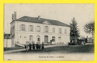 cpa FRANCE Old Postcard 77 - COUPVRAY (Seine et Marne) La MAIRIE