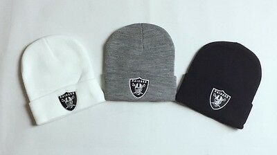 New Supreme Unisex Women Men Raiders Oakland NFL Plain Girl Fashion Beanie Hat