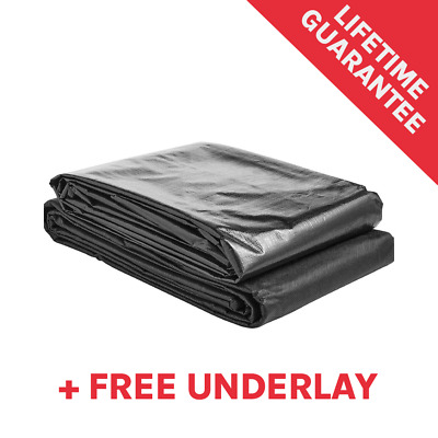 Pond Liner Deluxe for Garden Fish Ponds with Lifetime Guarantee & Free Underlay!