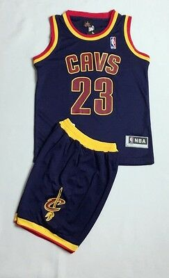 New Kids Basketball Jersey Cleveland Cavaliers # 23 Le Bron JAMES Top+Short Set
