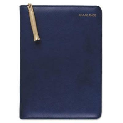 At-A-Glance 6079400158 Pebble Ringed Weekly/monthly Planner, 4 7/8 X 8, Navy,