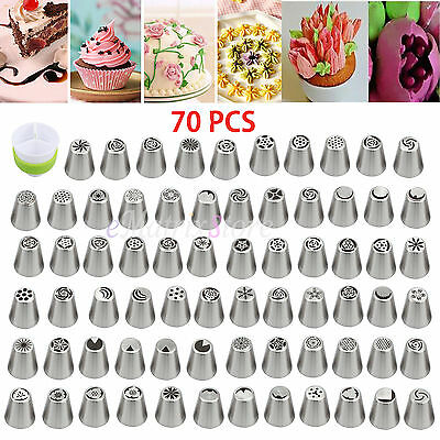 70Pcs/Set Russian Flower Piping Tips Cake Decorating Pastry DIY Icing Nozzles