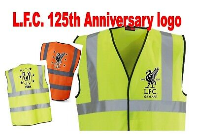 LFC 125th Anniversary Badge Hi Vis Work Football Stag safety vest gift ideas!!
