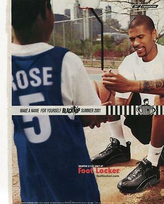 """2001 Reebok Print Ad Features Jalen Rose """"make A Name For Yourself Blacktop 2001"""