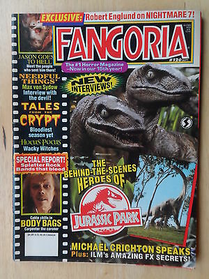FANGORIA #126 _ TALES FROM THE CRYPT _ BODY BAGS _ JURASSIC PARK _ Etc... VF/NM