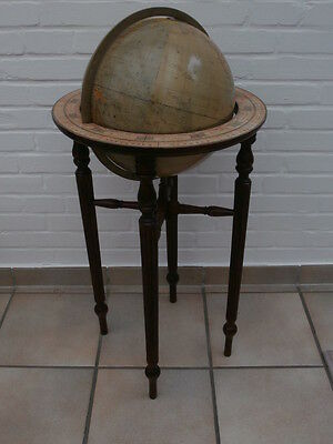 Library Style Wooden Stand With 12 Inch Terrestrial Globe Globus Mappemonde