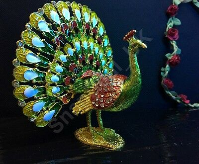 Large Colouring Peacock Decorative Animal Gift Present Model Valentines Free P&P