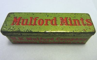 Antique Mulford Mints Advertising Tin