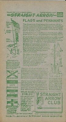 Nabisco Straight Arrow Injun-uities Card 19 - Flags and Penants 1952