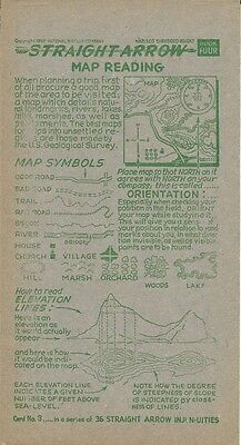 Nabisco Straight Arrow Injun-uities Card 3 - Map Reading 1952
