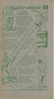 Nabisco Straight Arrow Injun-uities Card 18- Camp Shower 1952