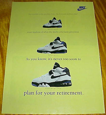 1993 NIKE KIDS 1 Page Ad Baby Force Sky Force Air Force Max Sneakers #051917
