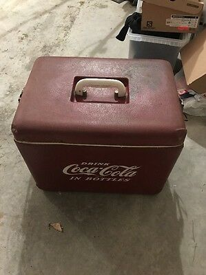 Rare Vintage Vinyl Royal Mieco Coca Cola Cooler Ice Chest Mid Century 12 Bottle
