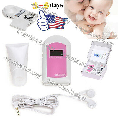 BABYSOUND LED Pocket Fetal doppler Baby heart monitor+ONE gel,FDA,us seller