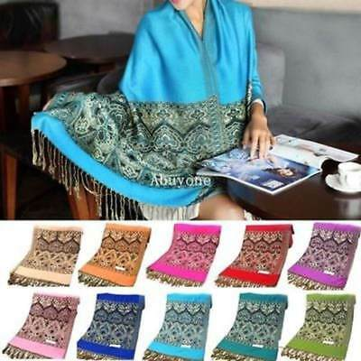 10 Colors Womens Lady Fashion Pashmina Scarves Paisley Stole Shawl Wrap Scarf h2