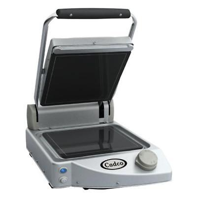 Cadco - CPG-10F - Single Panini Grill with Smooth Plates