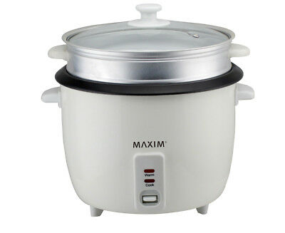 Maxim 5-Cup KitchenPro Rice Cooker - White