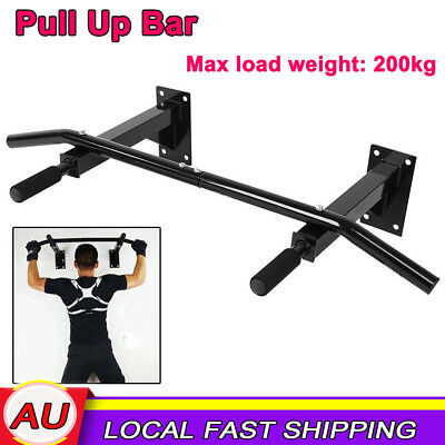 Chin Up Pull Up Bar Wall Mounted Power Training Fitness Gymnastic Suspension AU