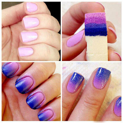 Fashion DIY Create star Nail Gradient Polish Sponge Craft Beauty Change Tools