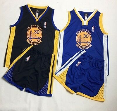 New Kids Basketball Jersey Golden State Warriors Stephen Curry #30 Top+Short Set