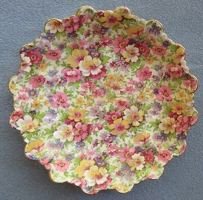 James Kent DuBarry Floral Chintz 7 Inch Round Fluted Edge Serving Bowl