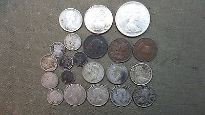 old Canadian Canada Coin Lot Collection w/ SILVER
