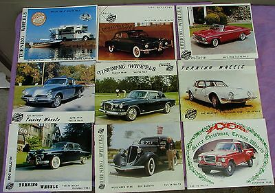 Studebaker Turning Wheels magazine lot of 9 issues, 1984  (LOC = A3)