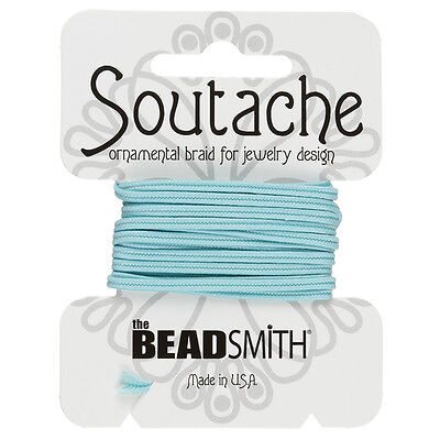 Beadsmith Soutache Polyester Cord 3mm Wide - Marine 3 yards (F38/7)
