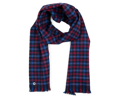 Ben Sherman Men's Woven House Gingham Scarf - Washed Blue