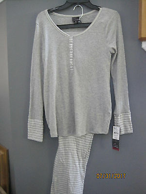 NEW w tags Maternity Oh Baby by Motherhood 2-Piece Nursing Pajama Set Gray Sz M