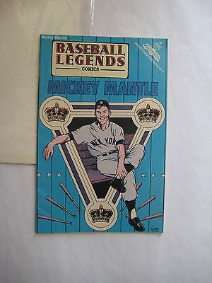 Mickey Mantle Baseball Legends Comics comic book, bagged and boarded