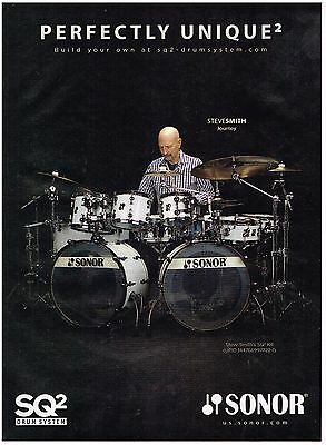 Sonor Drums - Steve Smith of Journey - 2016 Print Advertisement