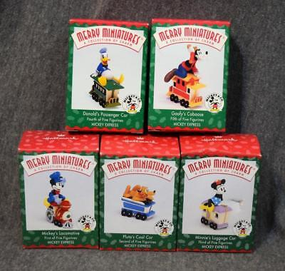 1998 Hallmark Merry Miniatures Disney Mickey Express Complete Set of 5 NIB