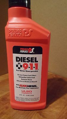 PowerService Diesel 911 Fuel Treatment Winter Emergencies Slick Lubricant 3x32oz