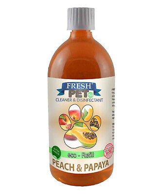 FRESH PET eco-Refill 25L - Kennel Disinfectant | Cleaner | PEACH & PAPAYA