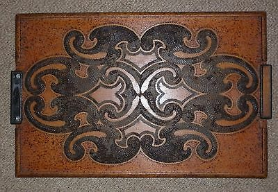 Vintage Poker Work New Zealand Maori Timber Tray  Excellent Condition