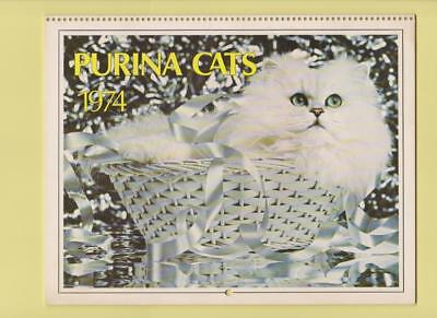 1974  Purina Cat Chow Cats Calendar Adorable Cats & Kittens Calendar