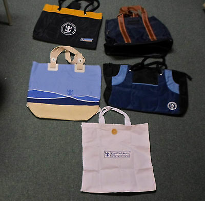 (5) Five Different Royal Caribbean Bags / Totes  All New