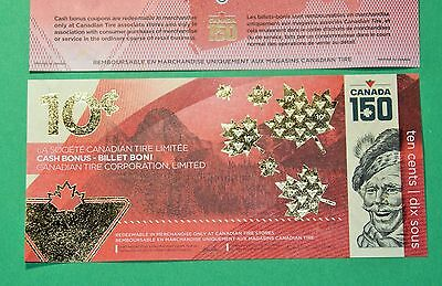 Limited Edition CTC 2017 Canada 150 COMMEMORATIVE 10 Cent Canadian Tire Money