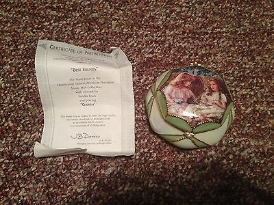 """RECO Heirloom Porcelain Music Box Collection  """"Best Friends"""" 6th Issue COA"""